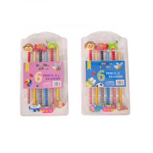 Sleeping Beauty Traders - 6 Pencil Eraser Set