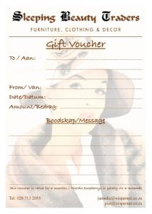 Sleeping Beauty Traders Gift Voucher